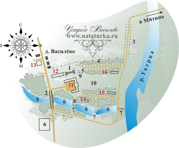 План усадьбы Василево