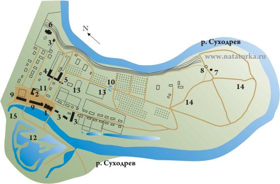 План музея-усадьбы Полотняный завод