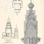 Ширков погост. Церковь Иоанна Предтечи. План, фасад и разрез
