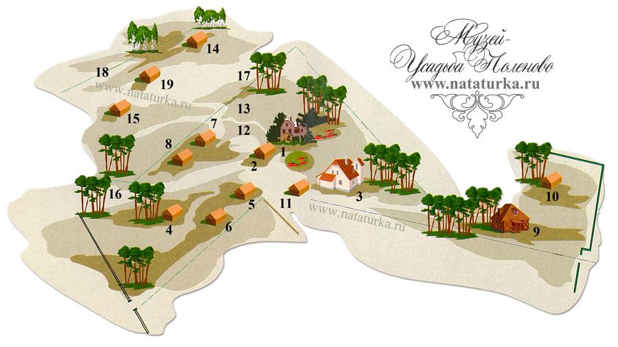 План усадьбы Поленово
