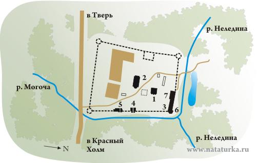 План Антониева Краснохолмского монастыря