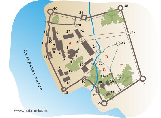 План Кирилло-Белозерского монастыря