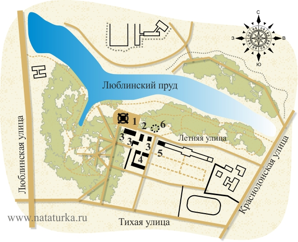 Парк, План усадьбы Люблино