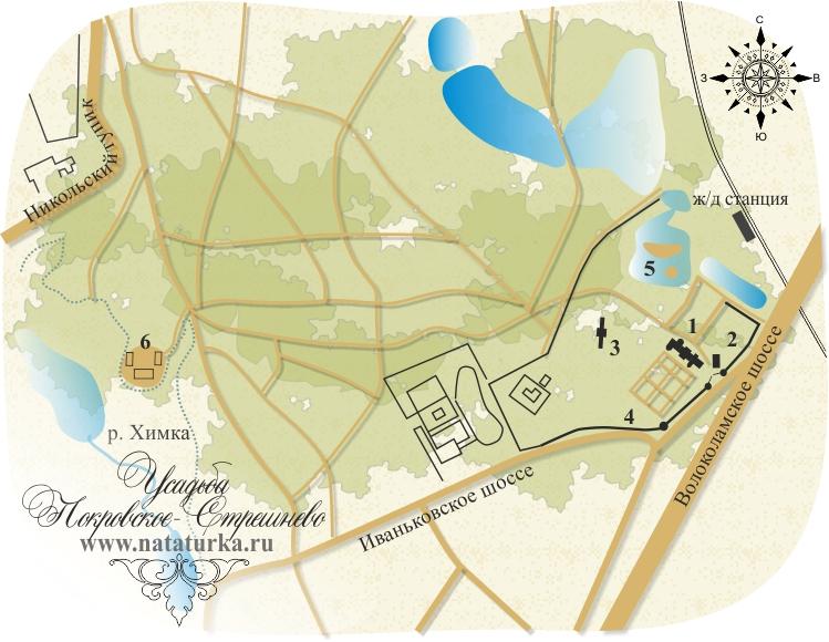 План усадьбы Покровское-