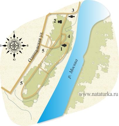 Место флигеля, План усадьбы