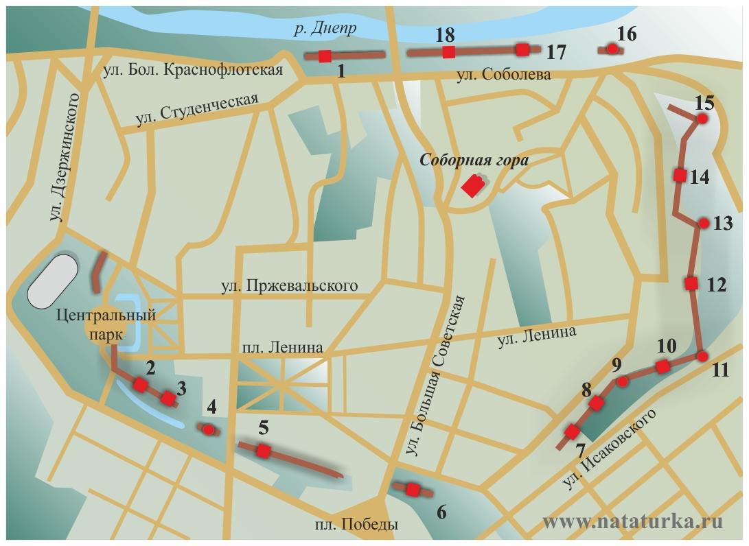 План Смоленской крепости