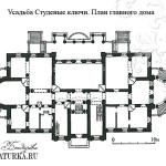 Усадьба Студеные ключи. План главного дома