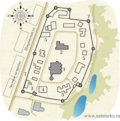 План Покровского монастыря в Суздале