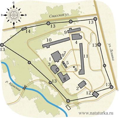 План Спасо-Евфимиева монастыря в Суздале