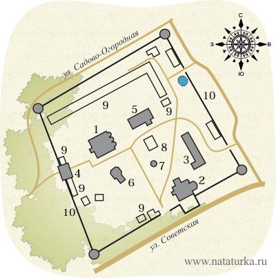 Александровская слобода, план Успенского монастыря