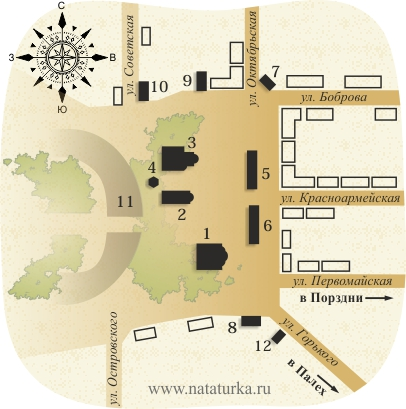 Храмовый комплекс в Лухе, план