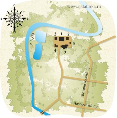 План усадьбы Свиблово