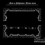 Усадьба Дубровка Свечиных. План центрального зала главного дома