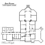 Дача Калиш, план первого этажа