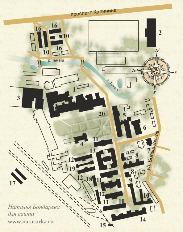 План Морозовского городка в Твери