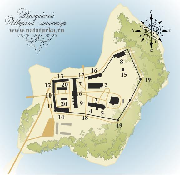 План Валдайского Иверского монастыря