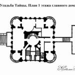 Усадьба Тайцы, план главного дома