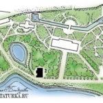 План усадьбы Горетово