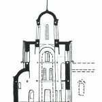 Церковь Рождества Богородицы в Перыни, разрез