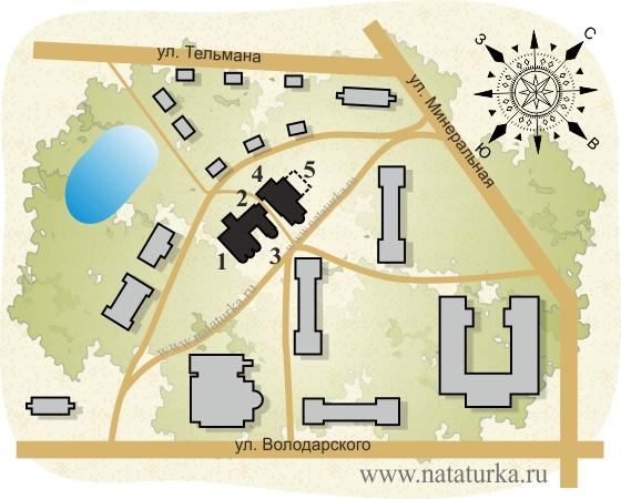 План Спасо-Преображенского монастыря в Старой Руссе