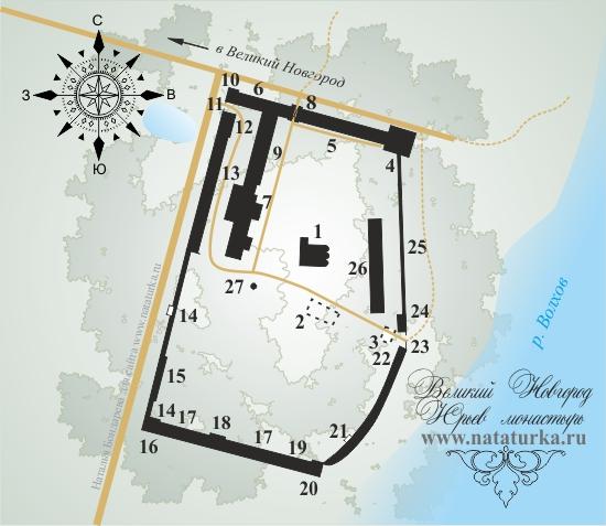 План Юрьева монастыря