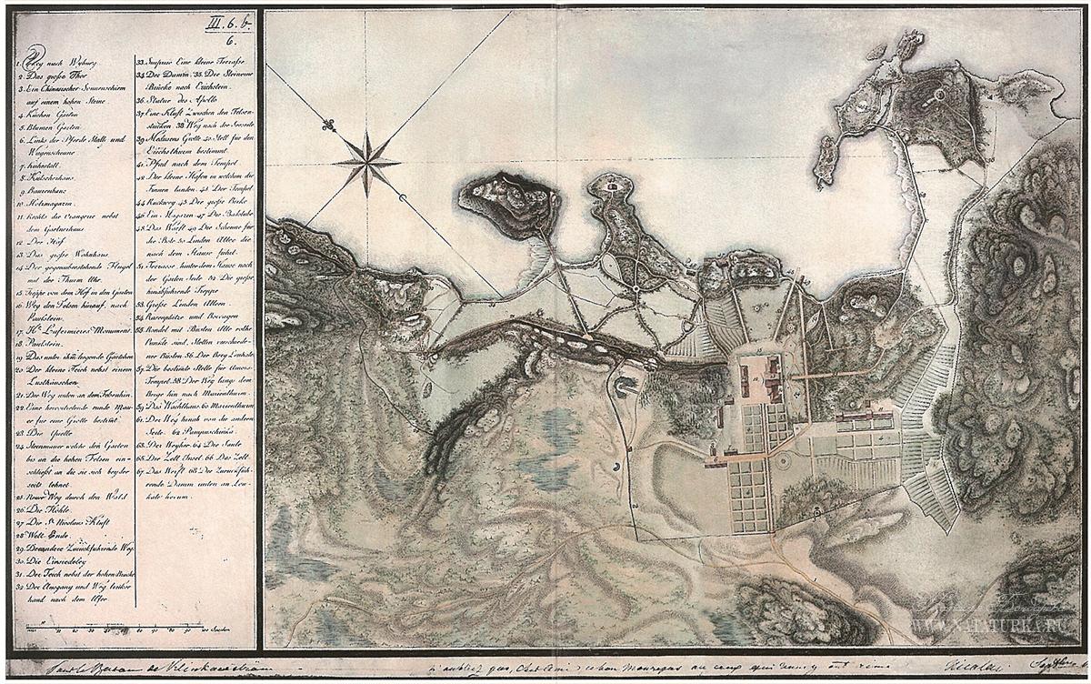 Архивная карта усадьбы Монрепо