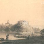 Вид Староладожской крепости. А.Ф. Чернышев, 1850 г.