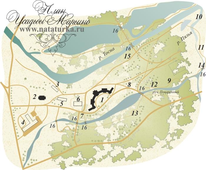 План усадьбы Марьино Тосненский район Ленинградская область