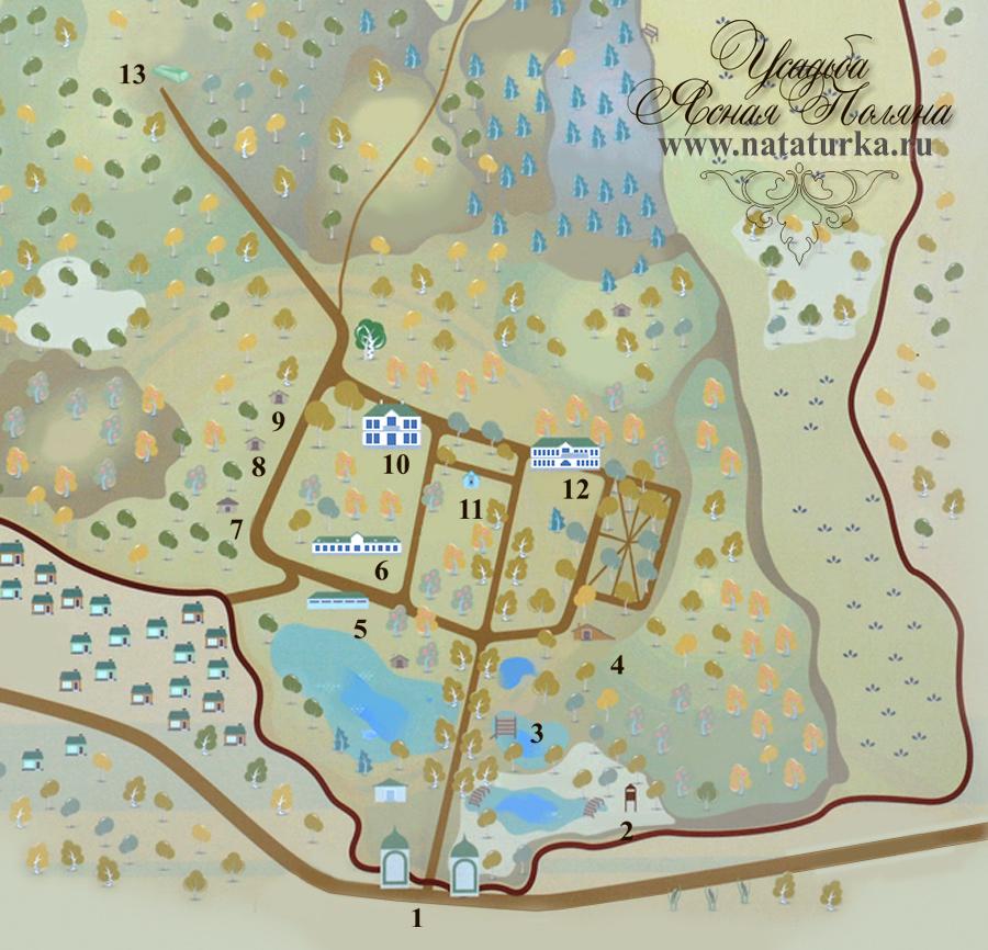 План музея-усадьбы Ясная Поляна