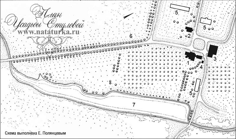 План усадьбы Стуловой (Чекмариха)