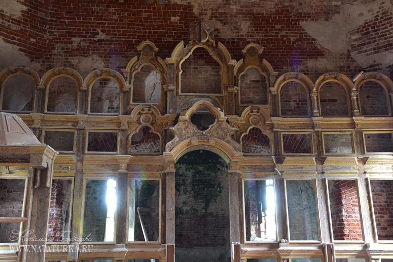Иконостас церкви в Корзино