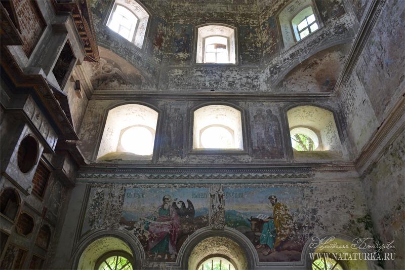 Церковь в Бережае, росписи южной стены