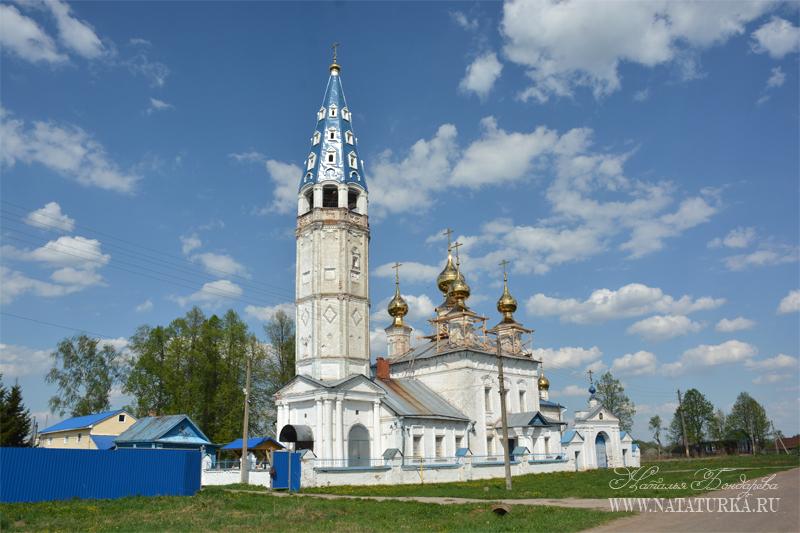 Успенская церковь в Кузнецово, вид с юго-запада