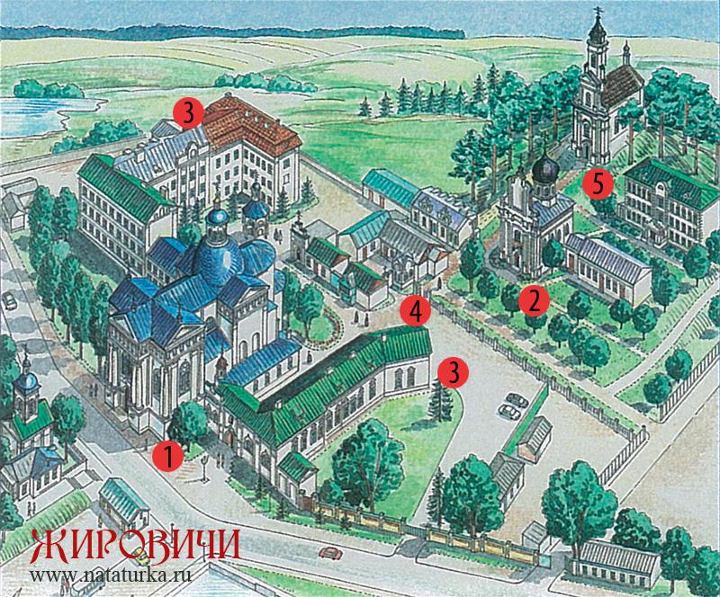 Схема Жировичского монастыря